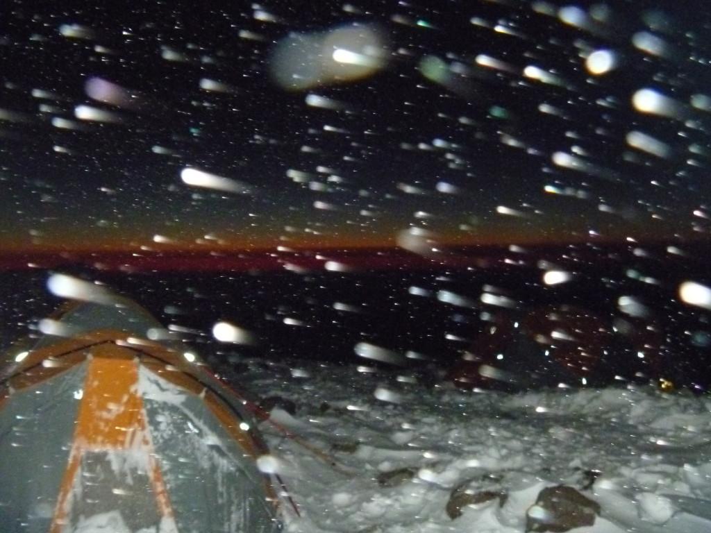 Nevasca aos 6000m no Aconcágua - Foto de Izabel Reigada